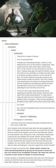 This is truly excellent  analysis of one of the most tragic figures in Greek mythology, Medusa. I agree completely!