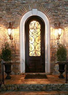 Gorgeous custom iron door.