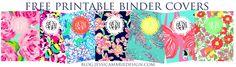 Preppy Printable Binder Covers