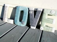 Yarn Letters - I sell these on my etsy shop:  WreathsByEmmaRuth