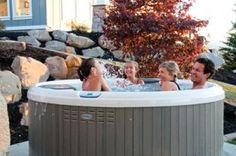 Family Time in the Hot Tub
