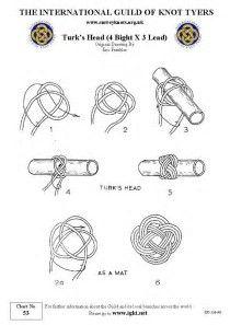 Resultado de imagem para turks head knot