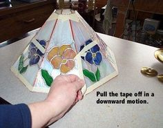 Step by step how to make a stained glass lampshade