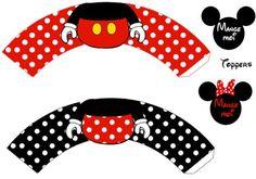 Enfeites de Aniversário Minnie e Mickey para Imprimir  |   Espaço Infantil