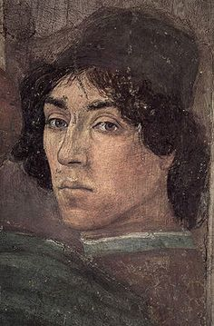 Self-Portrait (Fra Filippino Lippi)        (1457-1504)Brancacci Chapel, Florence from Dispute with Simon Magus