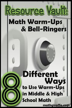 Math teachers form middle to high school levels share their tips and techniques on how to use warm-ups! Find some great new ways to engage your students and quickly find out what they know.