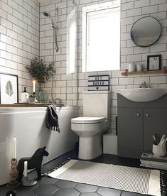55 Subway Tile Bathroom Ideas That Will Inspire You Subway Tile Ba. - 55 Subway Tile Bathroom Ideas That Will Inspire You Subway Tile Bathroom Ideas That W - Bathrooms Remodel, Bathroom Interior, Bathroom Makeover, Bathroom Flooring, Bathroom Renos, Diy Bathroom, Modern Bathroom, Subway Tiles Bathroom, Rustic Bathrooms
