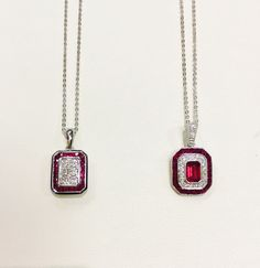 23 best ohio state fashions images on pinterest diamond engagement ohio state ruby and diamond pendant at leo alfred jewelers of dublin oh aloadofball Image collections