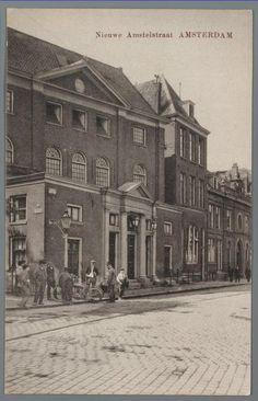1920ca. Nieuwe Amstelstraat met Grote Synagoge en Dritt sjoel