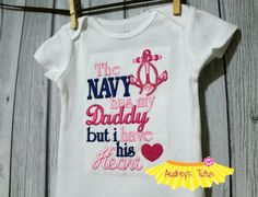 The Navy Has My Daddy by AudreysTutus on Etsy