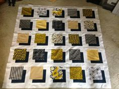 Two more rows to go...Shadow Block Quilt Top