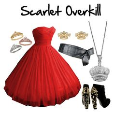 Scarlet Overkill || Mara Jade Skywalker by polyvore-fangirls on Polyvore featuring polyvore, fashion, style, Eternally Haute, Juicy Couture and Jadebounds
