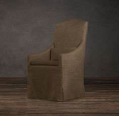 Slipcovered Camelback Dining Armchair | Fabric Arm & Side Chairs | Restoration Hardware