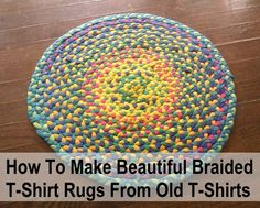 If there is one thing I seem to have loads of, it is old t-shirts... I just never seem to throw them out or donate them, but luckily I now have a use for them! These DIY braided t-shirt rugs can be made any size/shape you like and they are perfect for...