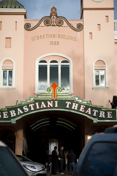 Love love love the Sebastiani Theatre.  Photo by Megan Clouse Photography.  Sonoma, CA