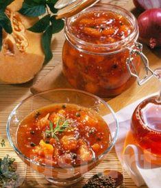 Lajos Mari konyhája - Sárgadinnye-chutney Chutney, Preserves, Pesto, Squash, Salsa, Ethnic Recipes, Food, Preserve, Buttercup Squash