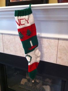 Personalized Hand Knitted Christmas Stocking Spring by IDoItWell, $70.00