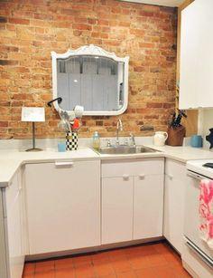 No Window In Your Kitchen? No Problem. Hang a Mirror Instead. — Kitchen Spotlight