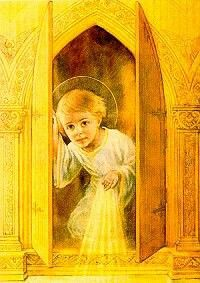 Very cute. The child Jesus in the Tabernacle