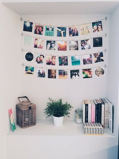 Photos on the wall DIY. An easy way to decorate your place. And you can change the pictures depending on the season or your mood! /Cheerz/