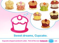 Such cute sandwich cutters! There's also an ice cream cone, gumball machine and birthday cake.