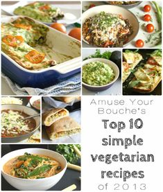 Top 10 simple vegetarian recipes from Amuse Your Bouche's second year (featuring 4 avocado recipes and a few more that would go GREAT with avocados!)