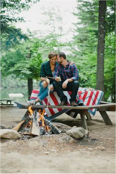 Le Magnifique: Rustic Lake Engagement Session by Briana Moore Photography