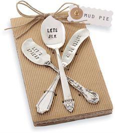 Stamped Spreader S/3 | Living | Mud Pie