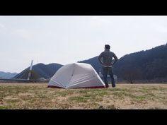2015.3.15 新しいテントを始めて張ってみた動画 ビッグアグネス ローンスプリングEX1 - YouTube