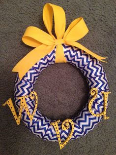 WVU wreath I made! :)