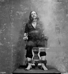 Lemmy Kilmister from Motorhead posed sitting strapped to an Electric Chair prop and smoking a cigarette during the photo session for the 'Killed By Death' single in Pimlico, London in July Get premium, high resolution news photos at Getty Images Gustave Dore, Heavy Metal Music, Heavy Metal Bands, Metallica, Grunge, Metal Fan, Somewhere In Time, Tribute, Photo Images