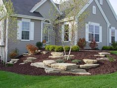 These are three of the most useful front yard landscaping ideas that have been used by homeowners in the past. The charm of these front yard landscaping ideas. Courtyard Landscaping, Home Landscaping, Landscaping With Rocks, Front Yard Landscaping, Inexpensive Landscaping, Landscaping Edging, Landscape Plans, House Landscape, Landscape Design