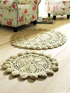 Ideia de tapetes de crochet