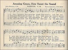Little Birdie Blessings : Scripture Thursday ~ Amazing Grace Amazing Grace Sheet Music, Sheet Music Crafts, Christmas Sheet Music, Christmas Diy, John Newton, Music Page, Vintage Sheet Music, Piano Music, Music Notes