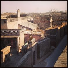 Ancient rooftops in the 3000 year old village of ping Yao, shanzi province, china