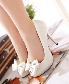 White Colored High Heel Shoes For Ladies Click the picture to see more