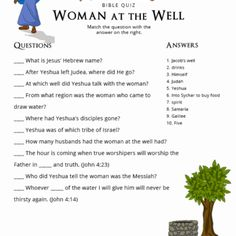 Free printable Bible Quizzes for kids, parents and teachers. Teach your children more about the Bible and Torah. A new quiz added weekly. Bible Study For Kids, Bible Lessons For Kids, Scripture Study, Sunday School Teacher, Sunday School Lessons, Bible Quiz, Bible Topics, Understanding The Bible, Bible School Crafts