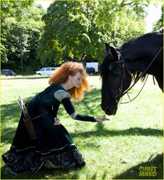 Disney Dream Portraits by Annie Leibovitz: behind the scenes with Jessica Chastain as Merida from Brave (2014)