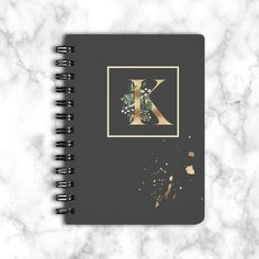 Elegant Monogram Notebook, Name Journal for Writing, Flower Monogram Journal Paperback, Journal for Women Special Birthday Gifts, Birthday Gifts For Her, Monogram Notebook, Birthday Reminder, Mailing Envelopes, Planning And Organizing, School Notes, Journal Entries, Christian Gifts