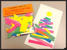 Christmas craft: Easy and fun! One done by you... and the other for your child to do!