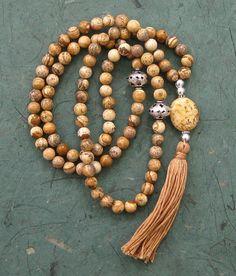 99 Picture jasper Sufi Islamic prayer beads meditation gemstone 6mm bead tasbih misbaha  £27