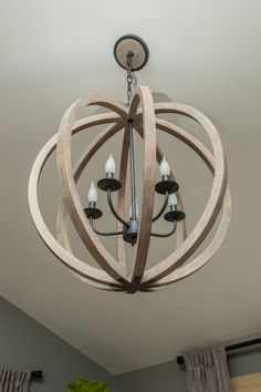 Feiss, F2936/5WOW/AF, Weathered Oak Wood / Antique Forged Iron Foyer Lighting, Weathered Oak, Pendant Chandelier, New Homes, Iron, Ceiling Lights, Antiques, Ideas, Design