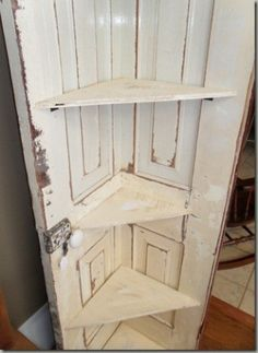 turn doors into swing pictures | Turn an old door into a porch-swing/bed. Too cute!