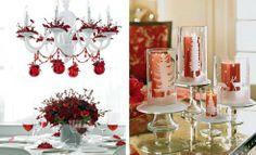 Christmas table decor photo.