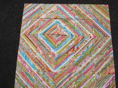"""String Quilt Remix by Blue.Ridge.Girl, via Flickr - """"barn raising"""" layout.  I would like to try this as one big block."""