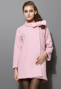 Sweet and sleek! This tweed coat offers a stylish yet simple silhouette in a sugary cotton candy hue. So girly. So gorgeous. Super chic!   - Concealed snap-fastening button - Pocket detailing to front - 65% Wool  10% Cotton  25% Polyester   Lining: 100% Polyester - Dry Clean  Size(cm)  Length  Shoulder  Bust  Sleeves XS                82        36         94   ...