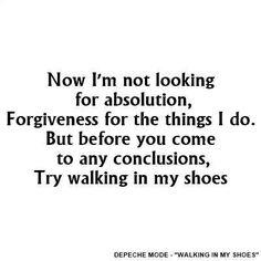Depeche Mode: Walking in my Shoes, fabulous lyrics from Martin Gore