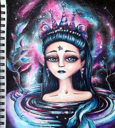 "19 Likes, 5 Comments - Marcela Lašáková (@marcelalasakova) on Instagram: ""Queen galaxy #tickettodreamscoloralong #tickettodreams #karolinakubikowska #gansaitambi #ecoline…"""