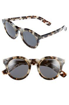 29fbeea8ed7f1 Illesteva  Leonard II  50mm Round Mirrored Sunglasses
