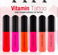 Beauty People Long Lasting Pure Vitamin Nutrition Capsule Lip Tattoo Tint 5g #BeautyPeople